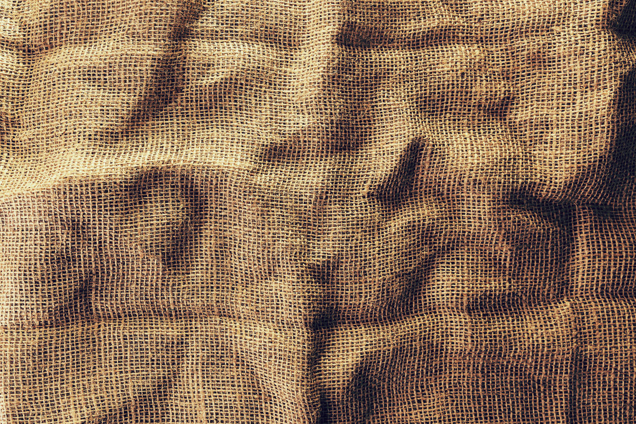 old jute cloth material background texture Abstract Backgrounds Cloth Crumpled Jute Jute Sack Linen Material No People Pattern Rough Sack Textile Textured  Textures And Surfaces Wrinkled