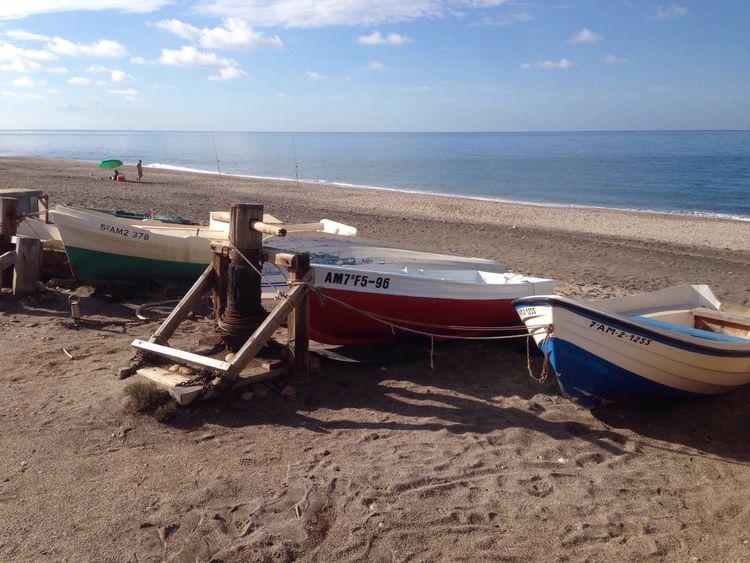 Boats Barcas Beach Fisherman Sea Seaside Mediterranean  Mediterranean Sea Coast Playa Almería SPAIN Cabo De Gata