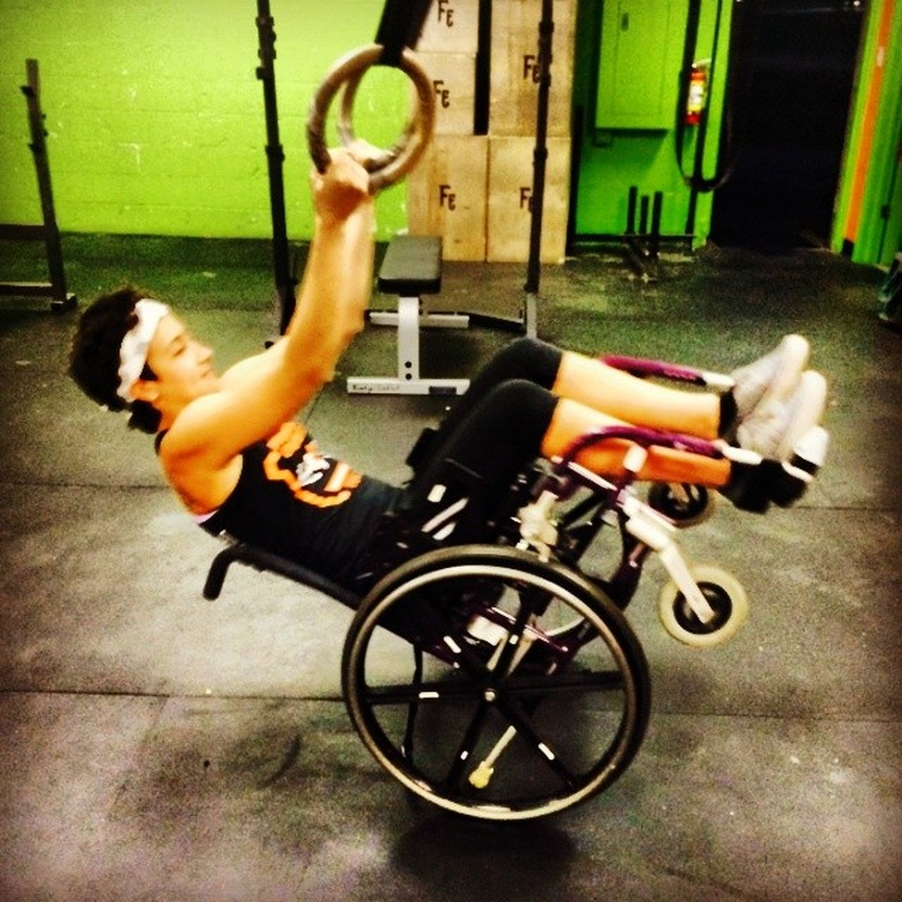 Xfit in a wheel chair Noexcuses WheelchairWOD