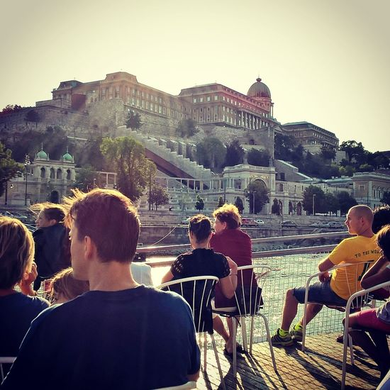 #budacastle #budapest #hungary #ship #landscape #mood #like #nature #photography #sightseeing Architecture City Clear Sky Day Friendship Large Group Of People Leisure Activity Lifestyles Men Outdoors People Real People Sky Social Gathering Summer Travel Travel Destinations Women