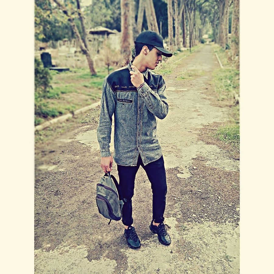 One Man Only Fashion Fashion Photography Mode Of Transport Chopping Board Followme Followforfollow Instagood Instadaily Like4like Likeforlike ♥♥ Love :) ✔☜ One Person Child Hat People Human Body Part Tree Outdoors Nature Men Only Men Young Adult Day Adult
