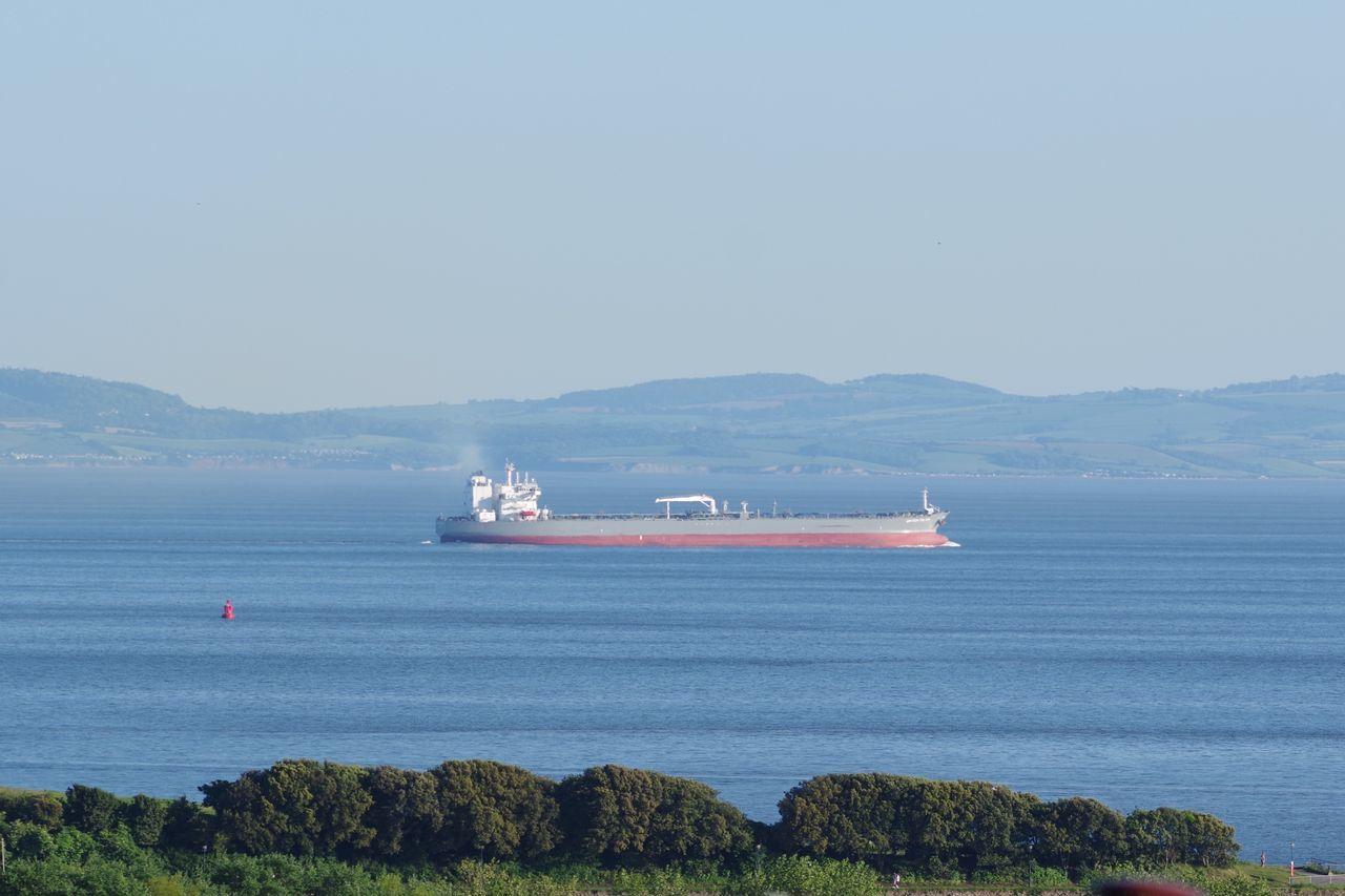 Sea Nautical Vessel Ship Horizon Over Water Transportation Sky Cymru-photography Wales Coastline Landscape Water Amazon Falcon Shipping  Tanker