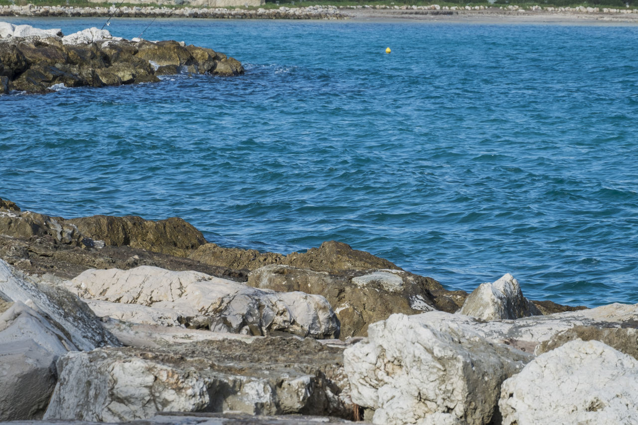 Beach Beauty In Nature Day Italy Nature No People Otranto Outdoors Puglia Rock - Object Salento Scenics Sea Tranquil Scene Tranquility Water Wave