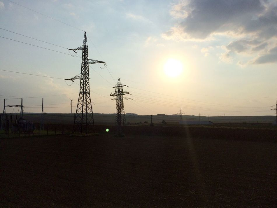 Electricity  Power Supply Electricity Pylon Sky Power Line  Sun Cable Fuel And Power Generation No People Sunset Connection Outdoors Nature Landscape Technology Electricity Tower Beauty In Nature Day