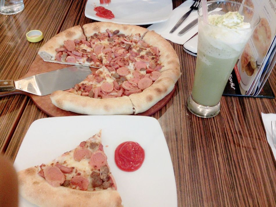 Yummy Pizza Eating