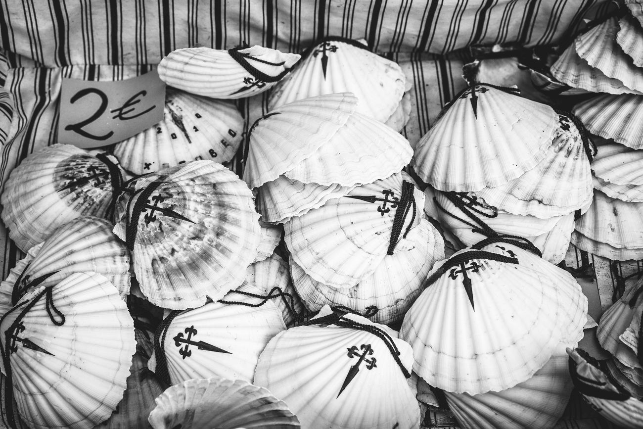 Blackandwhite CaminodeSantiago Documentary Photography Faith Jakobsweg Pilgrimage SPAIN The Photojournalist - 2017 EyeEm Awards Shell Shells Last Autumn (september/october 2016) I traveled alone to France and Spain to work on my Photography Documentary Project called Faces and Places of the Camino de Santiago. I walked the French Way, from Saint Jean Pied de Port(France) to Santiago de Compostela (Spain), more than 800 km with my backpack and my Camera. The project was to photograph the Camino and the Pilgrims with a Pilgtim's Eyes. My goal with this project was not to photograph monuments or lsndscspes, all I tried to photograph was the mood and the spirit of the Camino. The project in a near future is to turn into a Photography book that willl be called The Ride - A Photographer's Journey thru the Camino de Santiago! Hope you all enjoy the Ride thru my images...