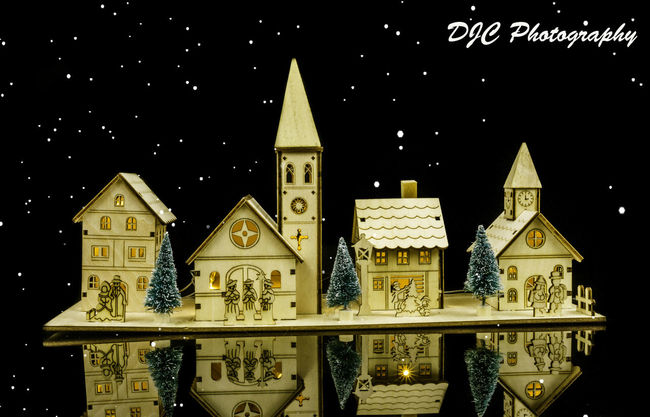 Architecture Building Exterior Built Structure Christmas Lights Christmas Tree Church Clock Tower Djcphotography Low Angle View Religion