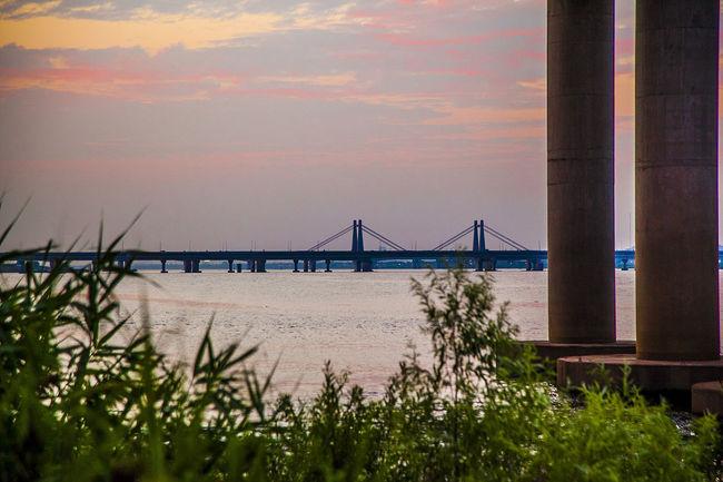 Bangwha Bridge:Haengjjoo Bridge] Bridge Han River Sunset Seoul South Korea Korea Bangwha Bridge