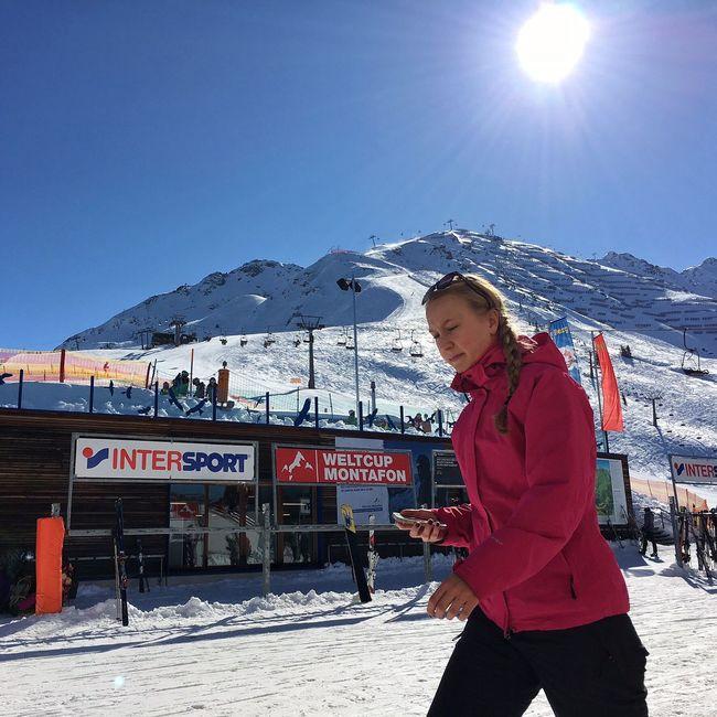 Mountains Autria Montafon Schuns Mountain View Snow ❄ Skiing