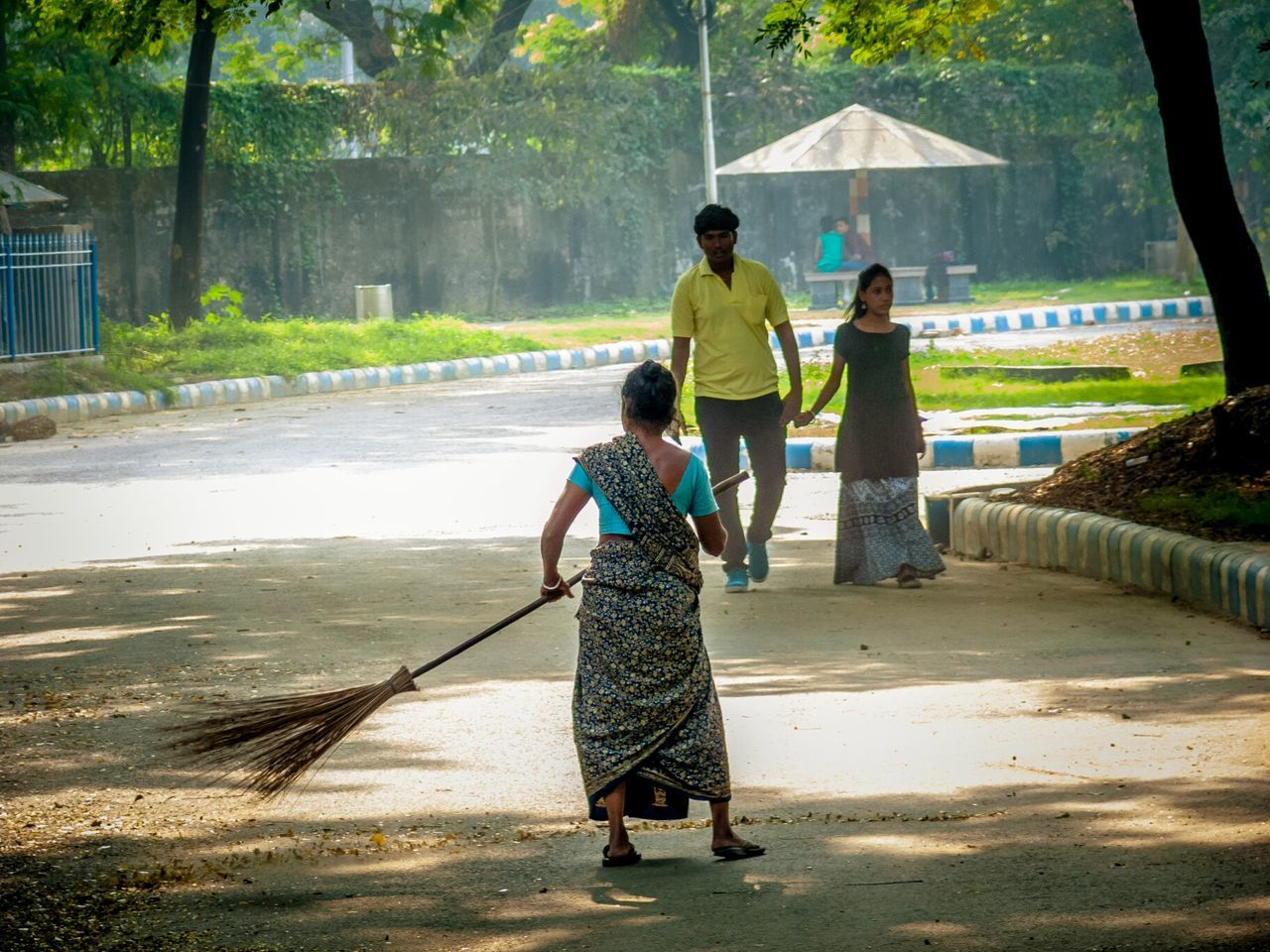 Swatchbharat Togetherness Outdoors Day Woman At Work City