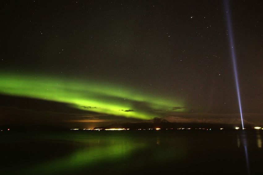 Night Beauty In Nature Star - Space Nature Astronomy Space And Astronomy Water Lake Sky Aurora Polaris Space Scenics Natural Phenomenon Green Color Outdoors Star Field Milky Way Constellation No People Galaxy Nothernlights Showcase October 2016 Amazing Place Reykjavik Scenicphotography The Great Outdoors - 2017 EyeEm Awards