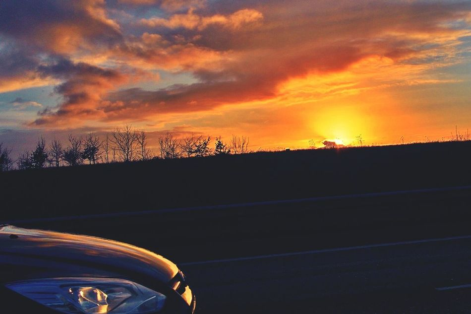 43 Golden Moments Motor Way Midland England🇬🇧 Sunset_collection