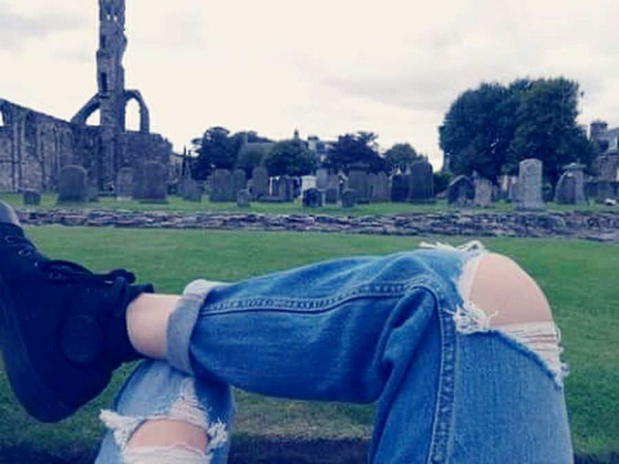 Jeans Casual Clothing Human Body Part One Person Day Sky Nature Knees Up Light Up Your Life Fashion Photography Girly Things  Lovely Grunge Art GrungeStyle Grunge