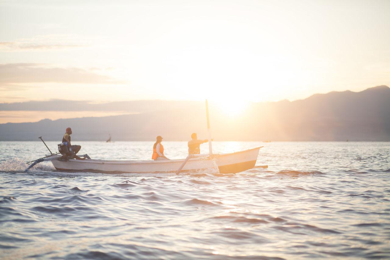 Beautiful stock photos of sailing, Boat, Dusk, Idyllic, Mode Of Transport