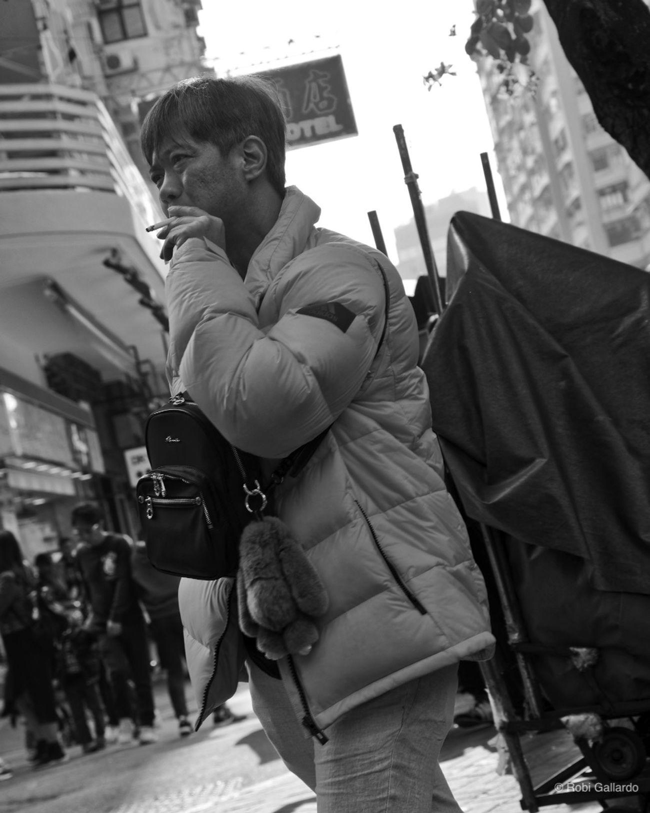 Blackandwhite City DSLR DSLR Photography Man One Person Pentax People Smoking Streetphoto_bw Streetphotography