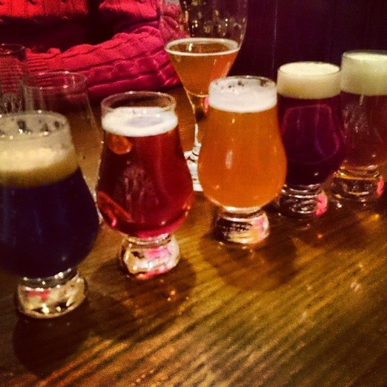 5 sorters öl på Bishops Arms i Malmö.  öl Beer Bishopsarms Malm ö Sweden