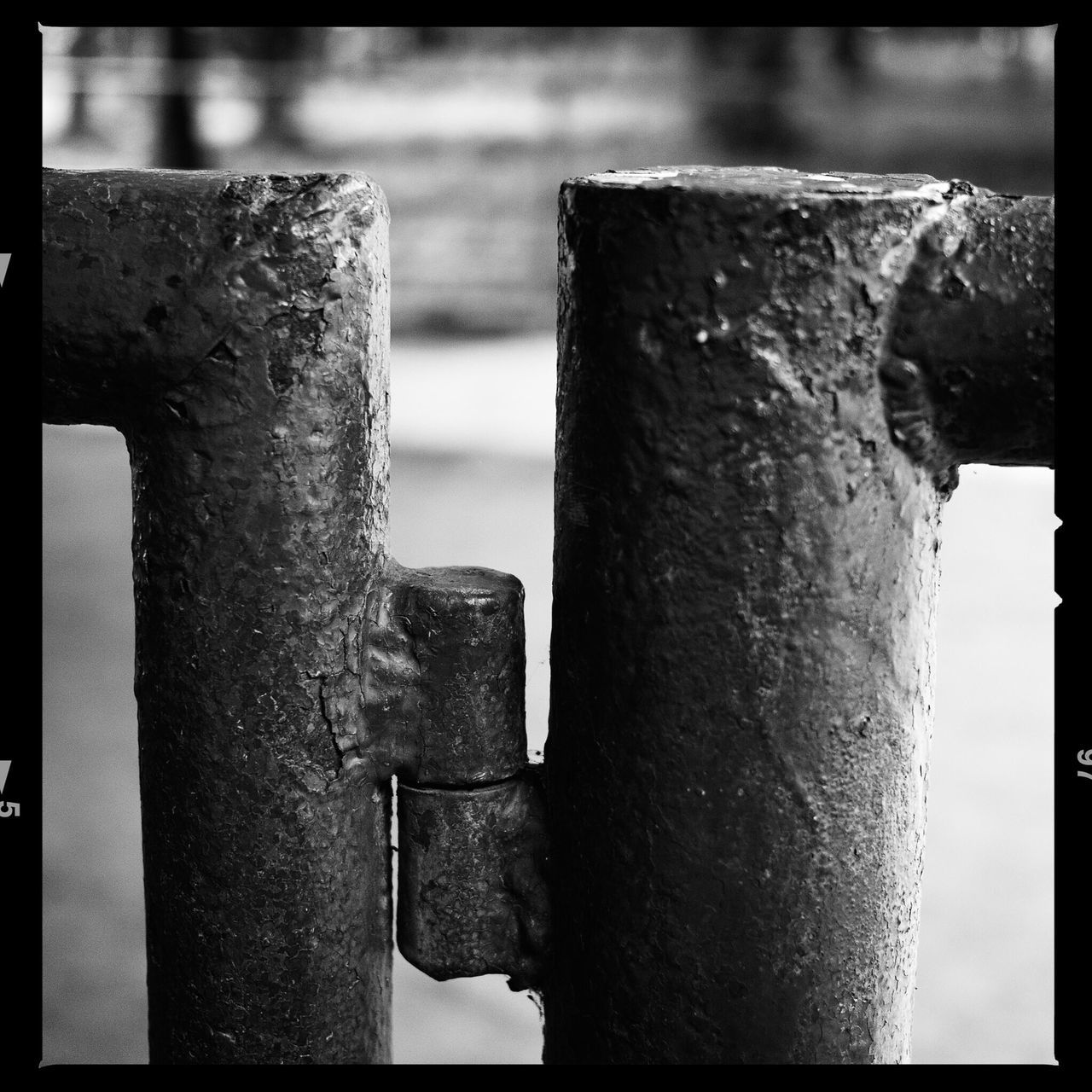 metal, close-up, strength, no people, focus on foreground, rusty, outdoors, nut - fastener, day, water, hinge, girder