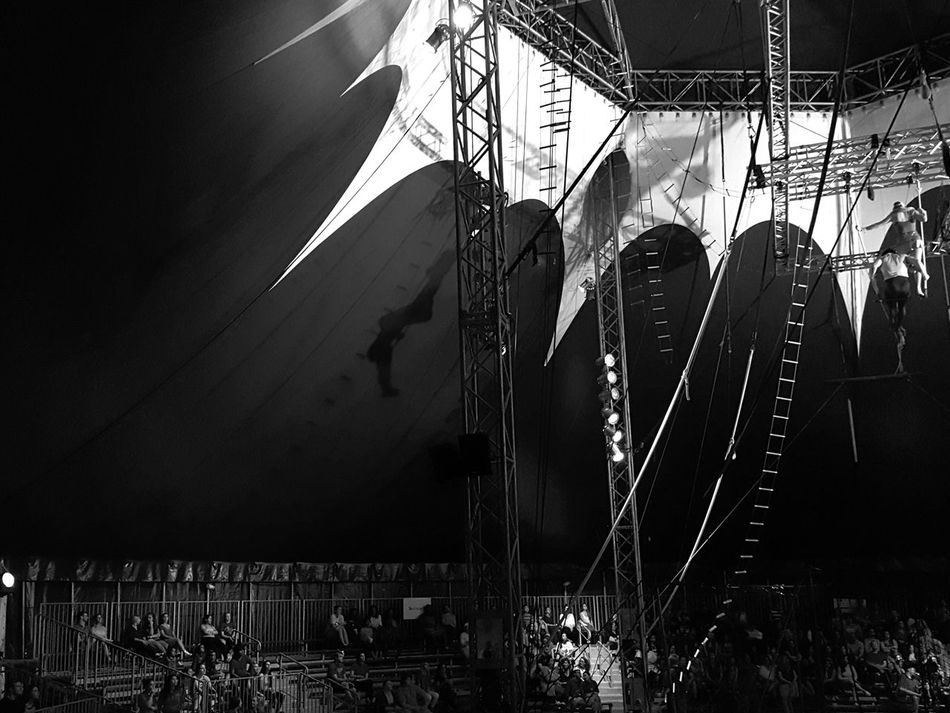 Things I Like Photography In Motion Here Belongs To Me Circus Contrast Blackandwhite Trapeze Doubles Trapeze