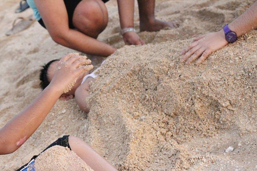 Sand block. Stilts Calatagan Beach Resort Calatagan, Batangas Philippines Capture The Moment Beach Eye4photography  EyeEm Best Shots Photos That Will Restore Your Faith In Humanity Eyeem Philippines The Week On EyeEm Deceptively Simple Hands At Work