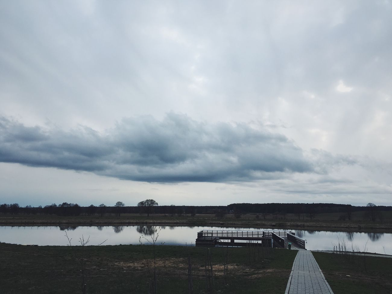 Cloud - Sky Water Sky Nature No People Lake Day Outdoors Scenics Bridge - Man Made Structure Tranquility Beauty In Nature Built Structure Landscape Architecture