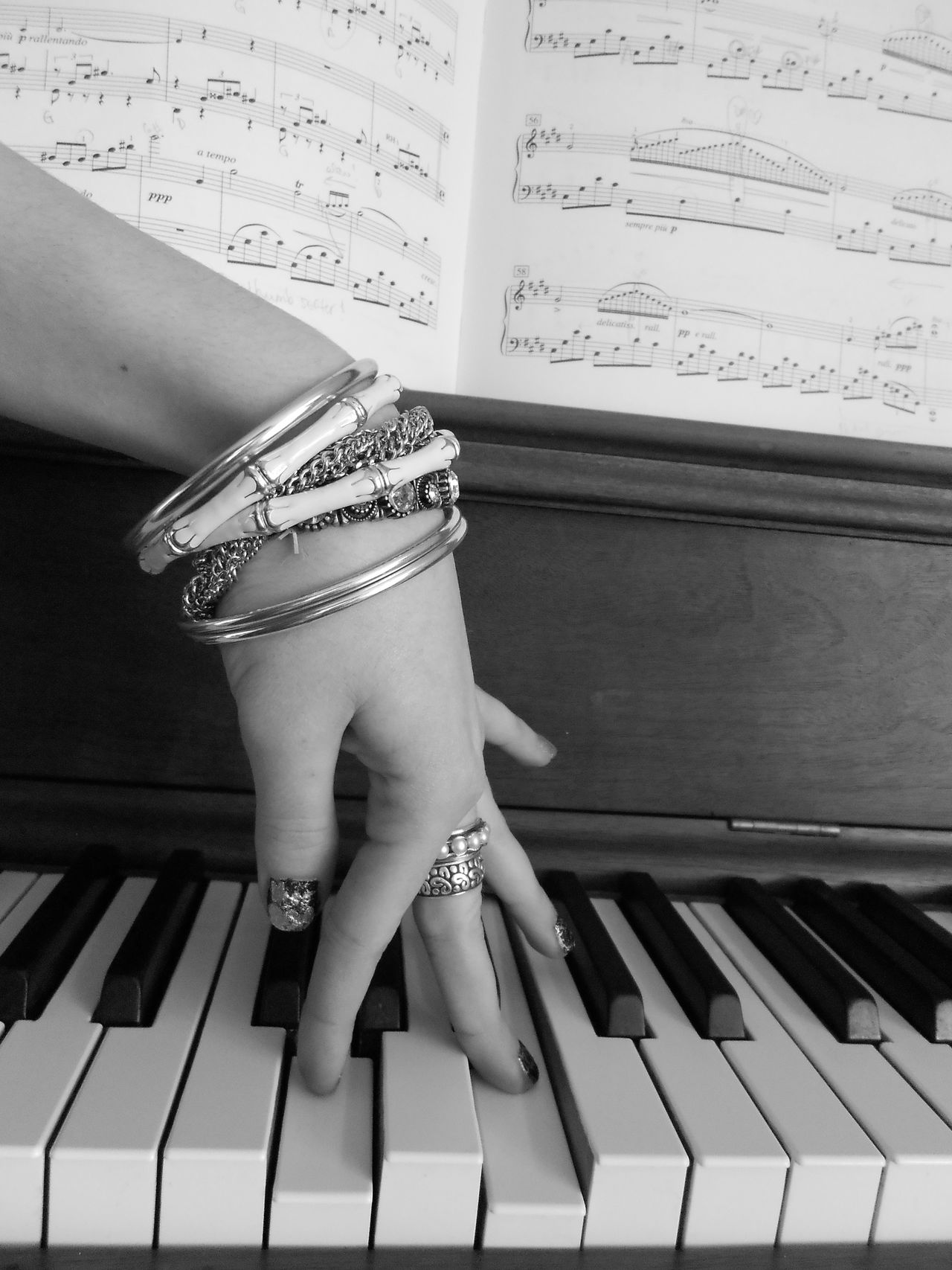 Black & White Black And White Blackandwhite Bracelet Bracelets Chopin Hand Keyboard Music Music Sheet Music Sheets Musiclover Musicnote MusicNotes Nailpolish Piano Piano Key Pianolover Home Is Where The Art Is