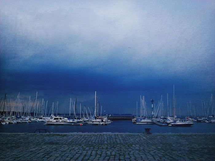 Stralsund  Harbour Clouds And Sky Baltic Sea