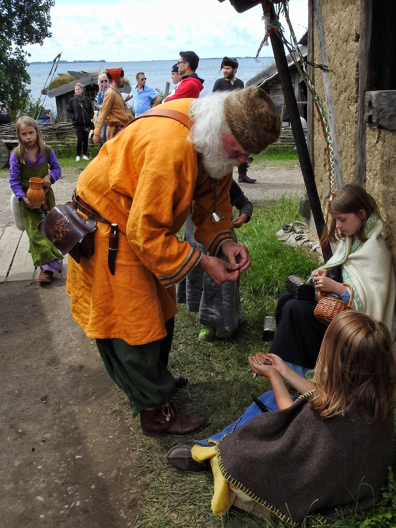 Check This Out Hanging Out Enjoying Life Colors Sweden Skåne Viking Colorful Costumes Scenic Vikings  View Medieval Medieval Architecture MedievalTown Festival Kids Children Beads Sharing  Sharing A Moment