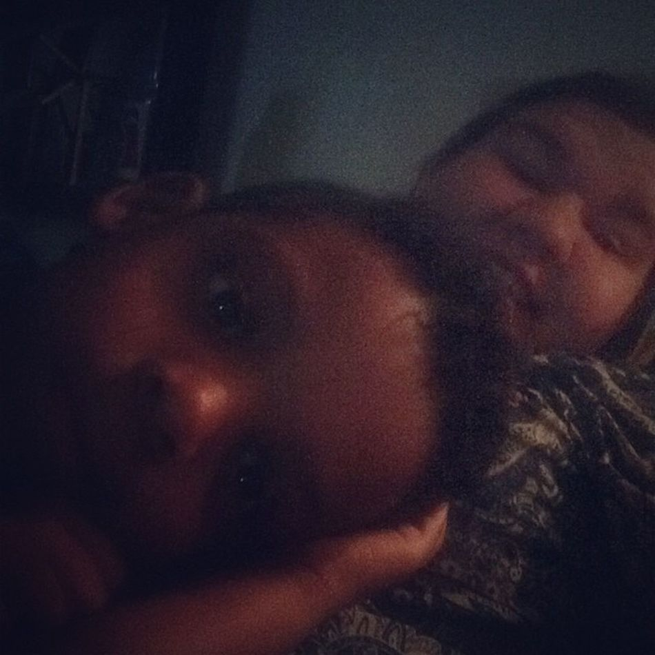 Laying down, watching a movie! Thelorax Babysitting Fun