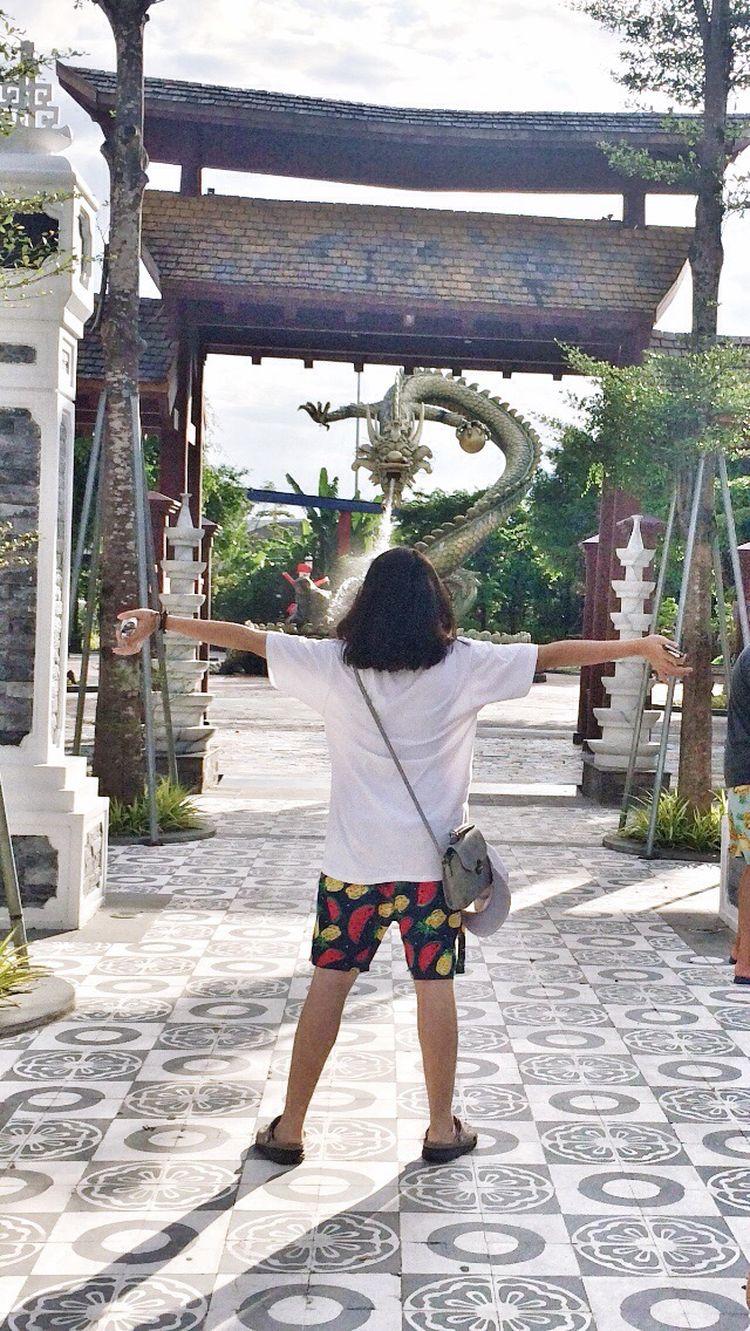 Sunworld park❤️ Me :)  Ip4 Myback Relaxtime Ip4s Dragon Vietnam Through My Cam