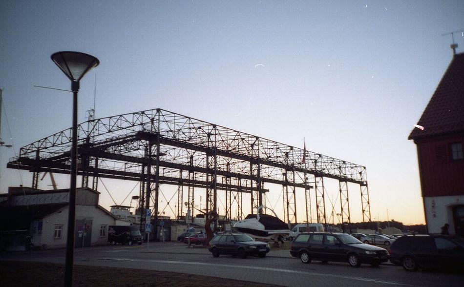 Elingas Built Structure City Clear Sky Day Klaipeda Port Sunset