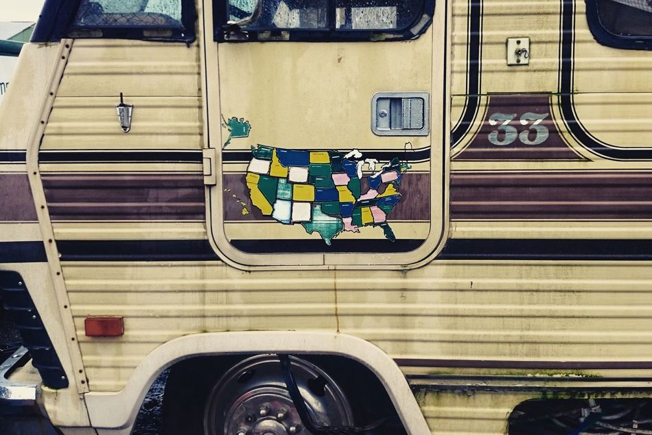 Transportation No People Urban Landscape North Portland Rv Vintage Cars