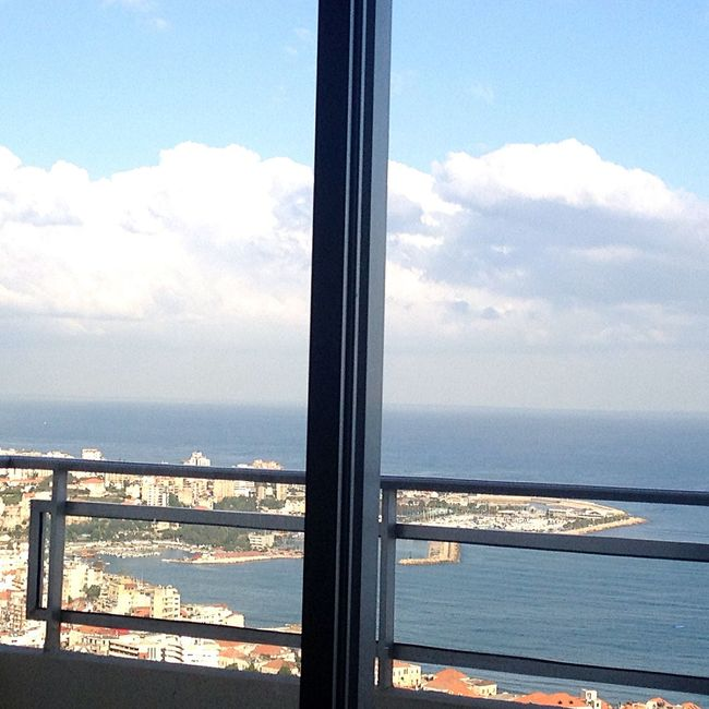 From My Window Good Morning Mount Lebanon Sea, Sky And Clouds From My Point Of View East Mediterranean