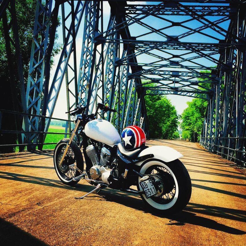 Motorcycles Bikers Custom Bridge Nature Life Myworld Mylife Composition