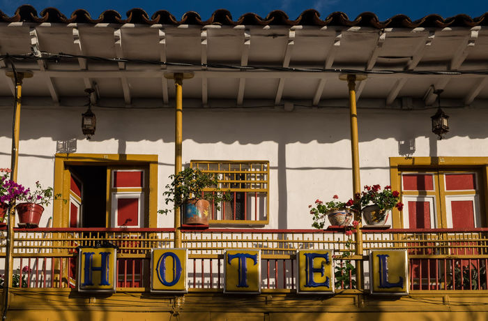 Colorful hotel in Jericó, Colombia. Antoquia Colombia Architecture Colombia ♥  Colourful Nature Jerico Jerico Colombia Terracotta