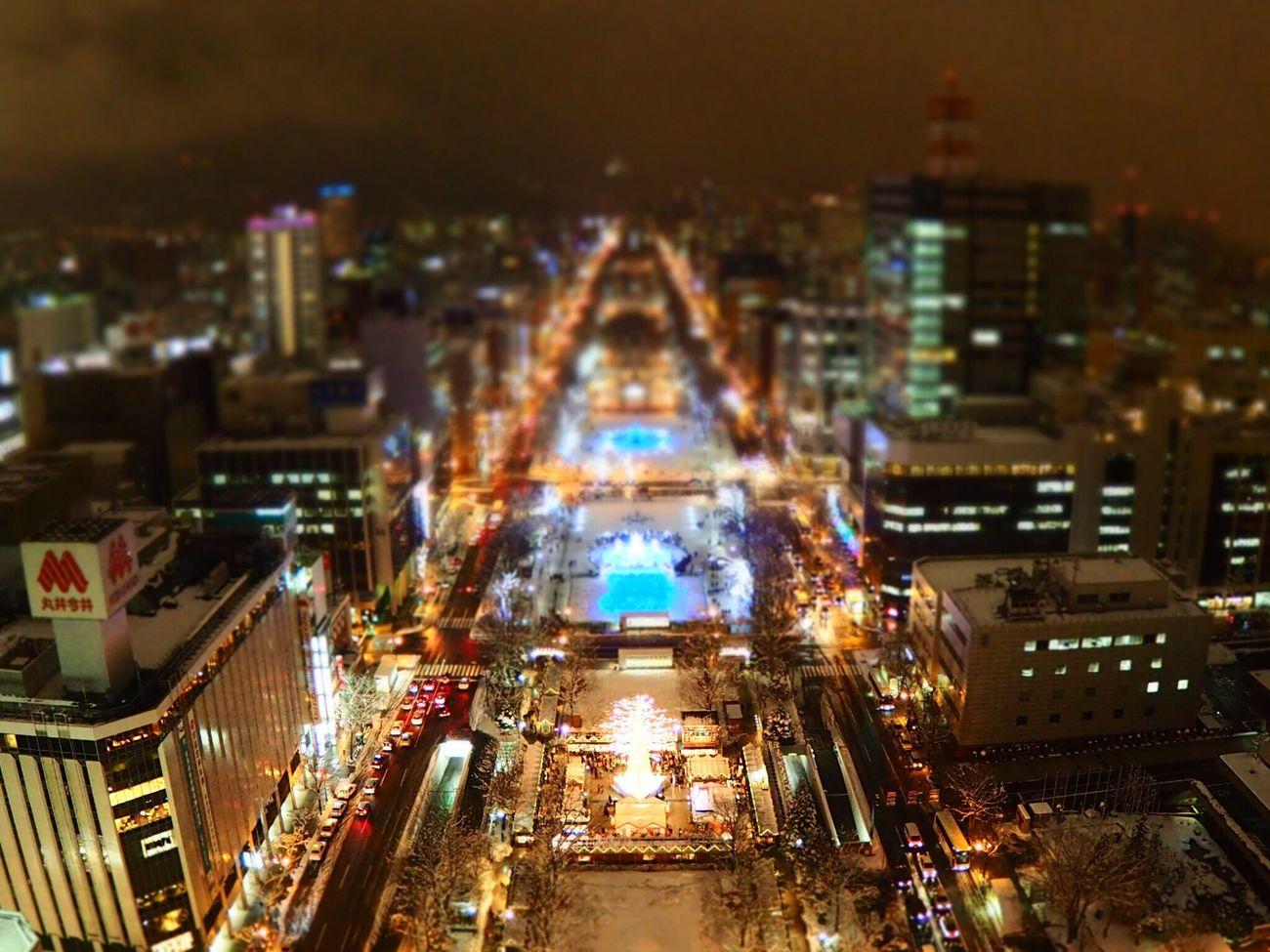 札幌テレビ塔からの夜景(Night view from the Sapporo TV Tower.)2015/12/18 Sapporo Hokkaido Night View Olympus Olympus OM-D E-M5 Mk.II Sapporo Tv Tower Sapporo Snow Festival Illumination Odori Park
