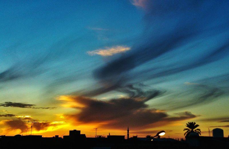 Sunset Sky And Clouds Beautiful Clouds Beautiful Sunset Misurata Libya By Me