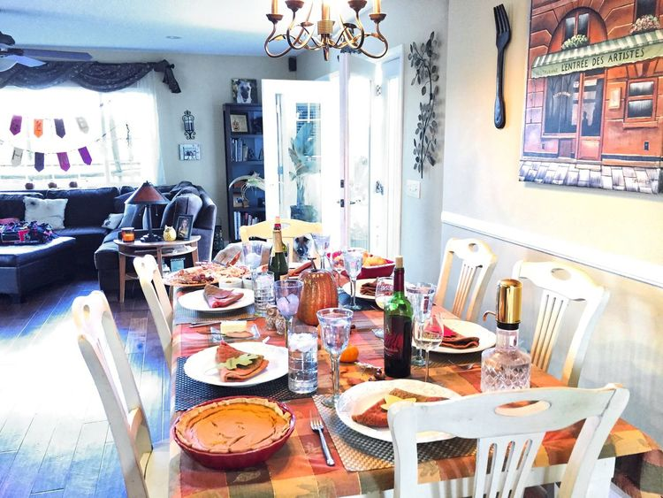 Chair Day Home Indoors  Kitchen Table No People Table Thanksgiving,