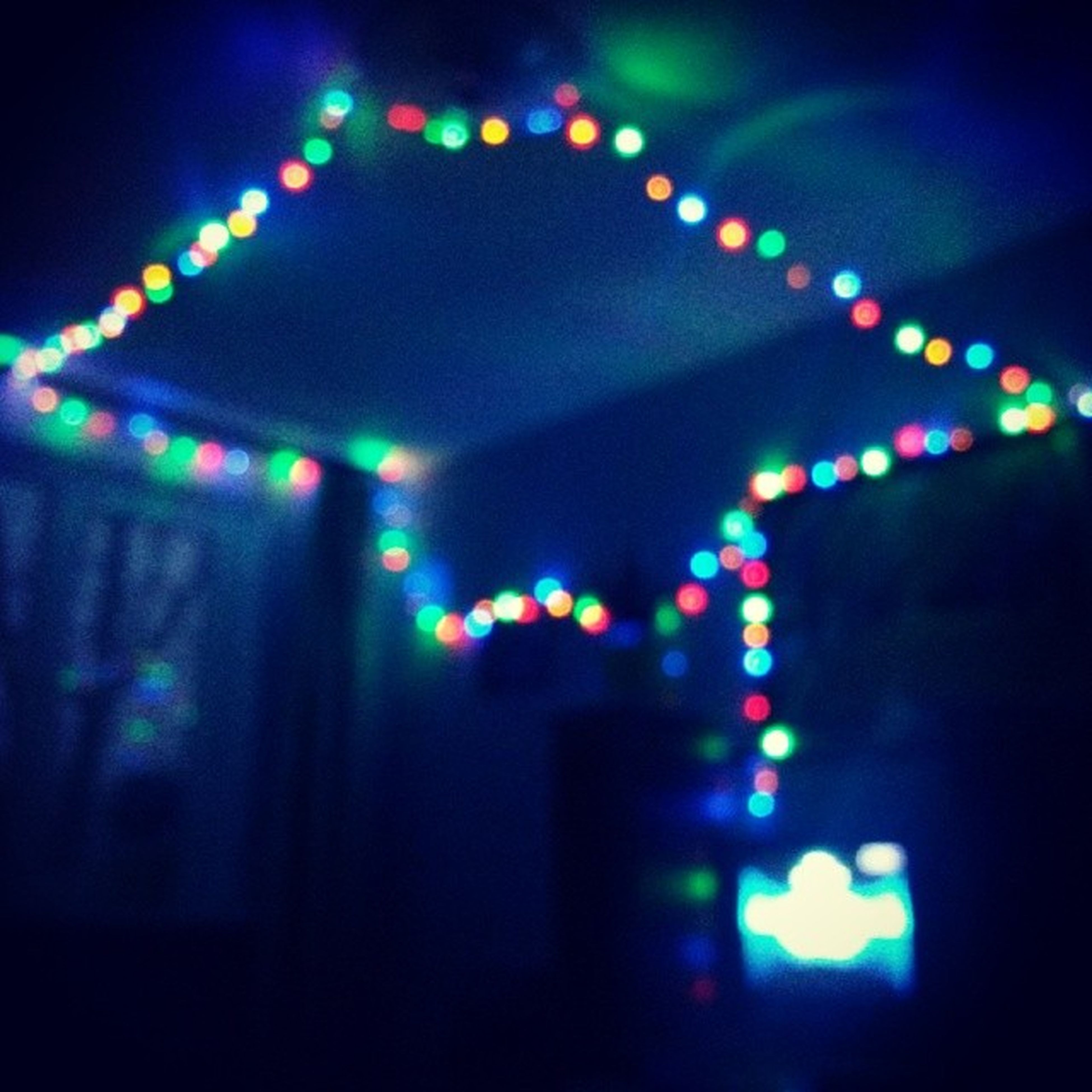 illuminated, lighting equipment, night, indoors, decoration, multi colored, glowing, light - natural phenomenon, electric light, defocused, light, low angle view, electricity, pattern, architecture, ceiling, built structure, celebration, hanging, no people