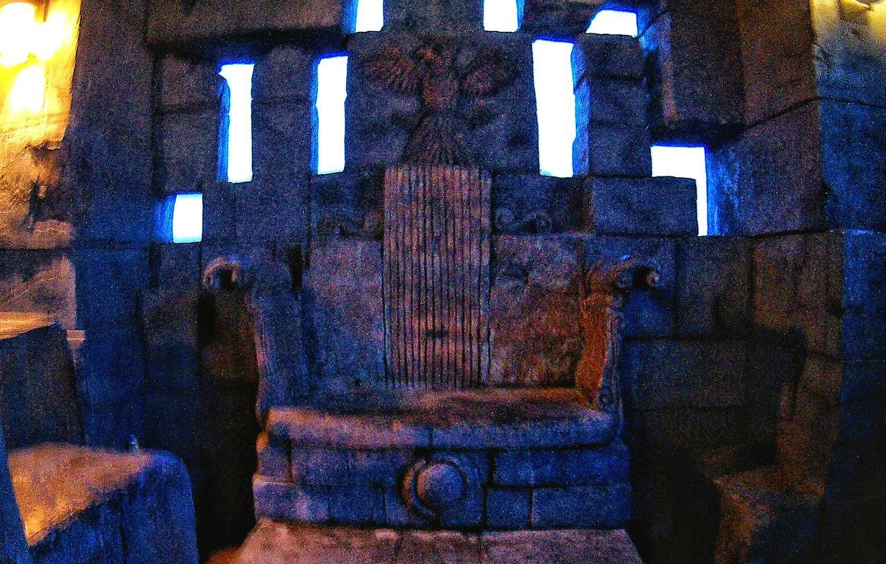 stony throne for the dungeon queen Architecture Indoors  No People Built Structure EyeEmNewHere IndoorPhotography Built_Structure Its More Fun In The PHILIPPINES! Stony Chair