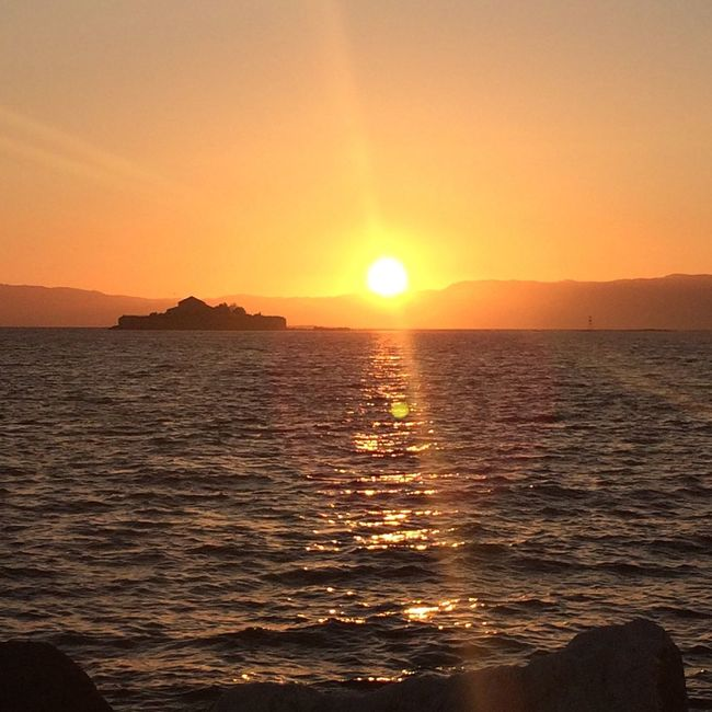 Sunset at Munkholmen Sunset Peaceful Munkholmen Golden Sea 43 Golden Moments