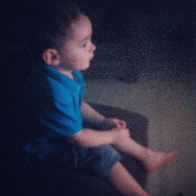 Mybaby Jaden Watching tv GettingSoBig