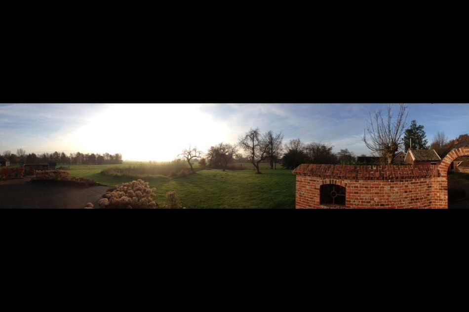 Panorama Morning Sun
