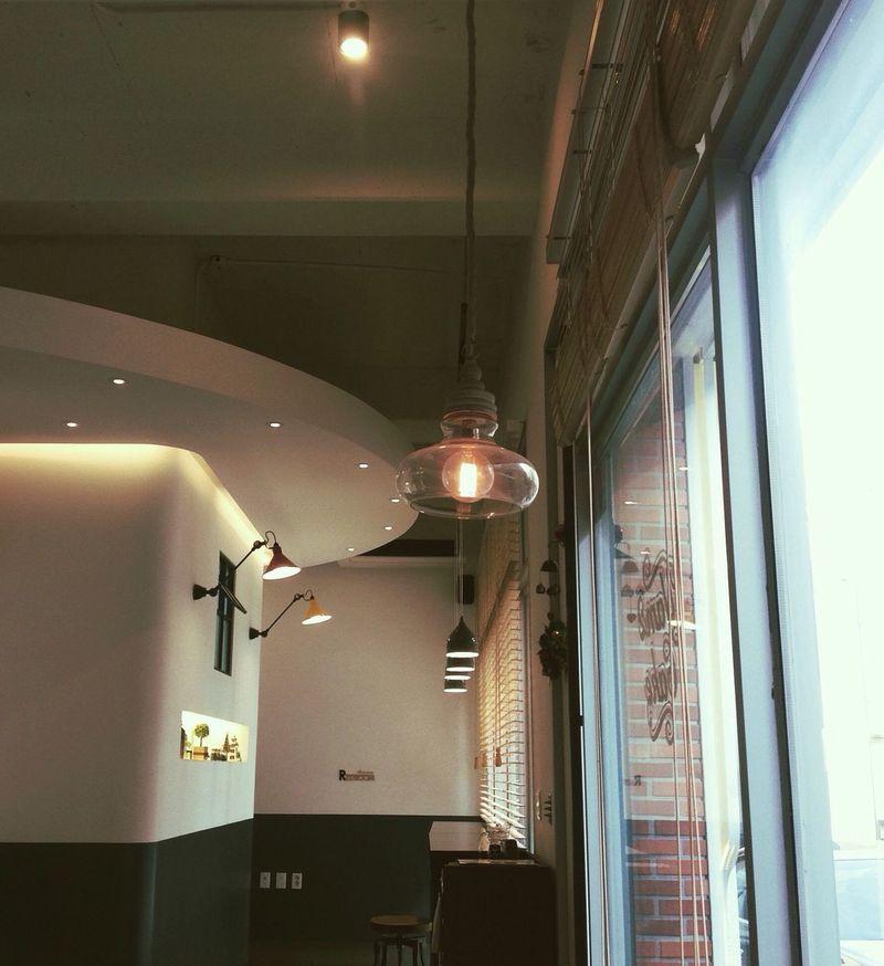 Illuminated Indoors  Lighting Equipment Cafe Cafe Time Caffè Pangyo Korea