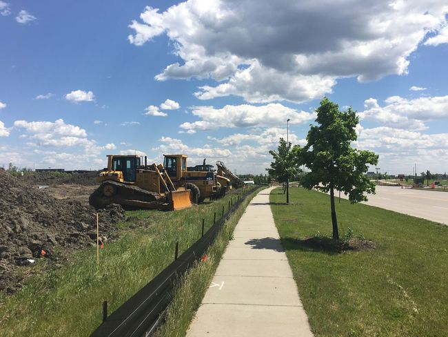 June 5, 2016 / Fargo, North Dakota Cloud Cloud - Sky Clouds Cloudy Day Diminishing Perspective Empty Fargo Footpath Grass Green Color Growth Nature North Dakota Outdoors Pathway Sky Skyporn South Fargo Spring The Way Forward Tranquility Tree Vanishing Point Walkway