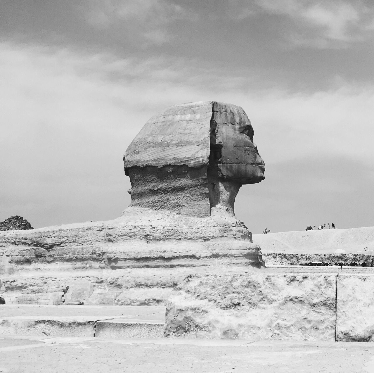 Sky Nature Travel Destinations Outdoors Cloud - Sky No People Day Cold Temperature Beauty In Nature Architecture Quarry Sphynx Ancient Ancient Civilization Ancient History Ancient Egypt Egypt Black And White Blackandwhite History Sphynxofinstagram