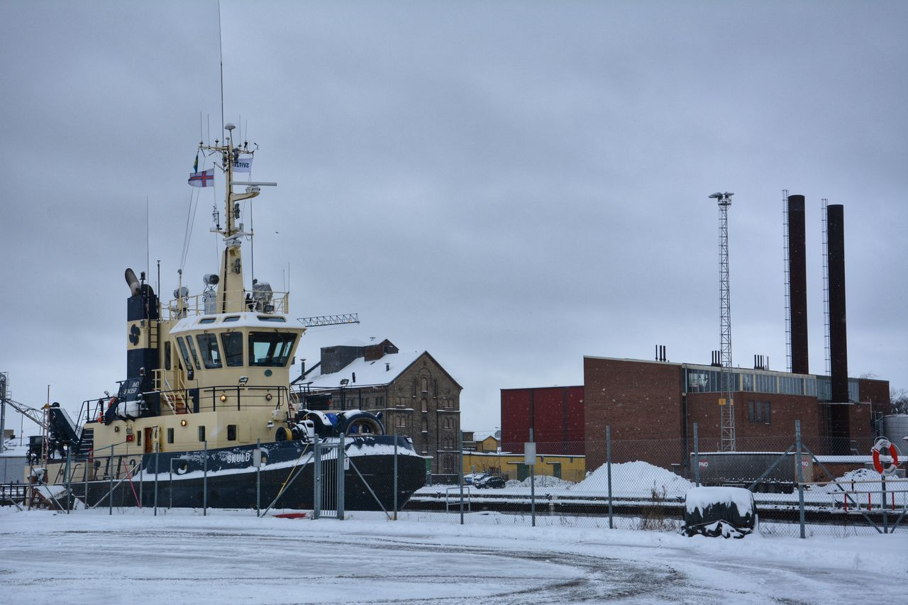 It's Cold Outside Norrköping Harbour Boat Cityscape Scandia Sweden Snow ❄ Northern Europe Snow Winter Cold Weather Scandinavia