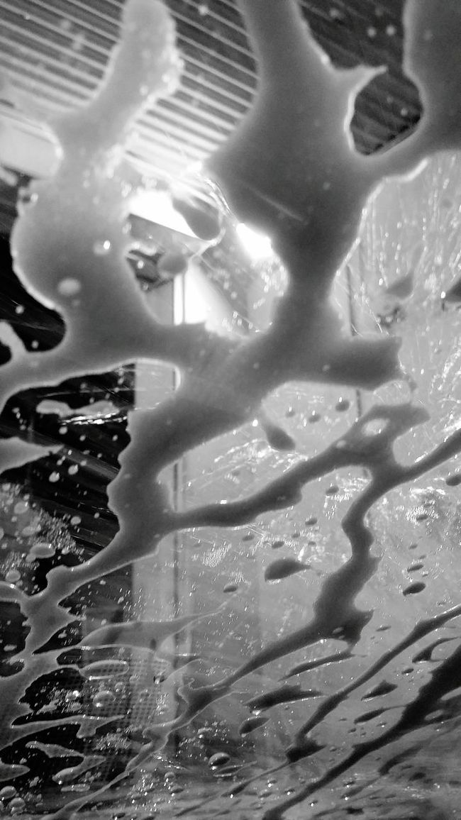 At The Carwash Carwash Soap Soap Suds Soapy Nightshot Mobilephotography Bnw Bnw_collection Bnw_life Singapore EyeEm Gallery Eyeemphotography