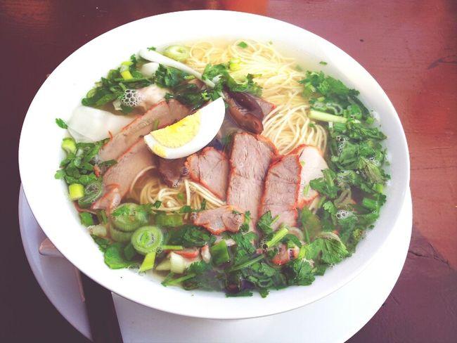 Asian Food Enjoying A Meal Having A Soup Vietnamese Food