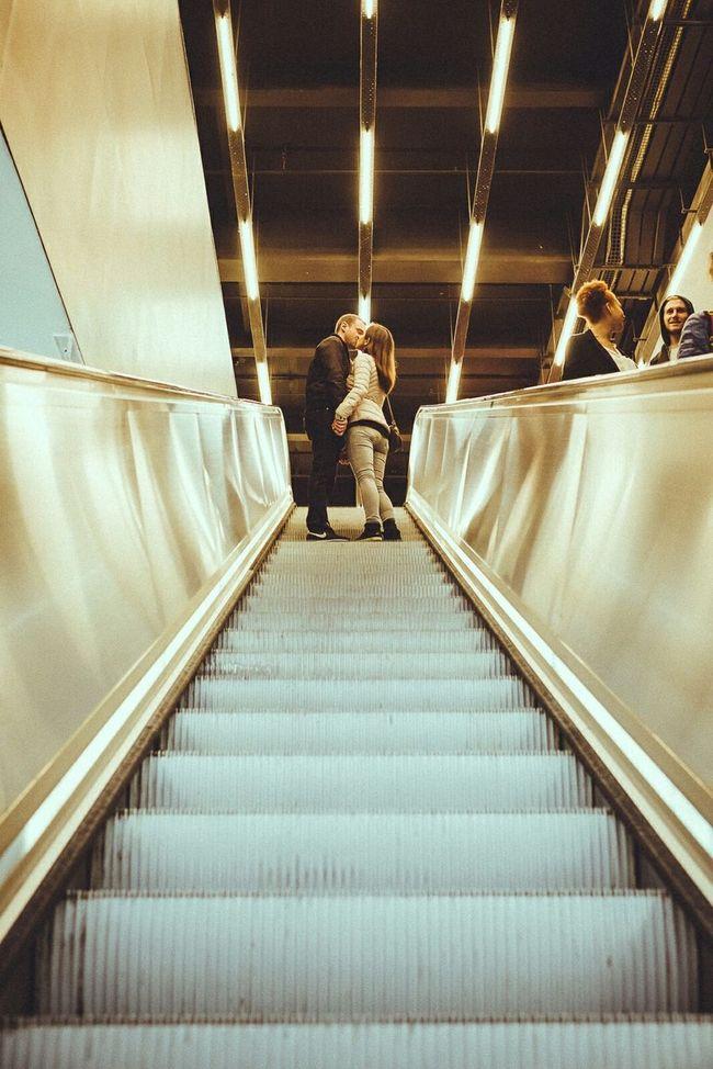 My Best Photo 2015 Street Streetphotography Streetphoto_color Kiss Escalator London Uk GBR Cmmaung Cmmaung.me