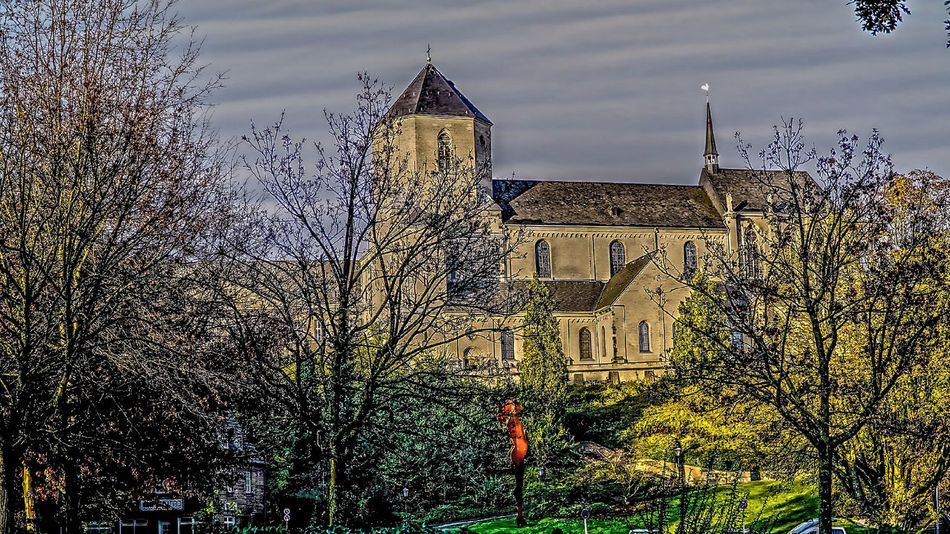 Gladbacher Münster Architecture Building Exterior Built Structure Day HDR Hdrphotography History Low Angle View Münsterkirche  Nature No People Outdoors Sky Tree